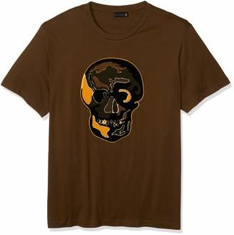 Sean John Men's Chenille Skull Short Sleeve Crew Neck Tee