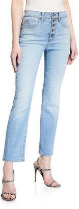 Veronica Beard Jeans Carolyn Button-Fly Crop Jeans