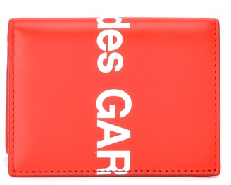 Comme des Garcons Comme Des Gar & Ccedil Wallets; Ons Wallet Huge Logo In Red Leather