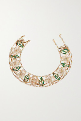 Rosantica Gold-tone Crystal Necklace - one size