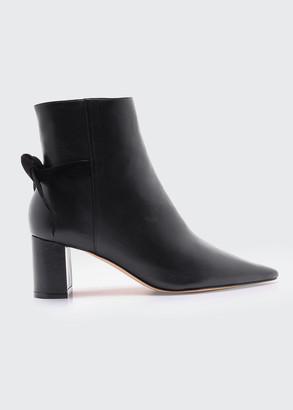 Alexandre Birman Clarita Block-Heel Point-Toe Ankle Boots