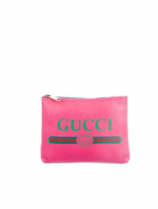 Gucci Small Logo Zip Pouch gold