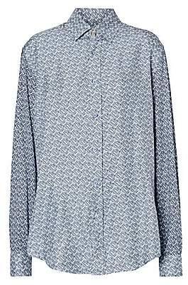 Burberry Women's Silk Printed Blouse