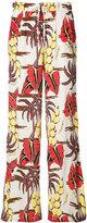 P.A.R.O.S.H. printed palazzo pants - women - Silk - M