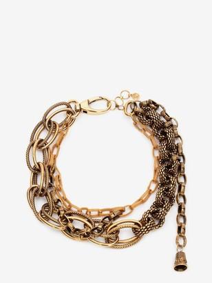 Alexander McQueen Multi Chain Mesh Necklace