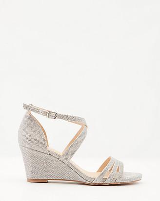 Le Château Glitter Mesh Criss-Cross Wedge Sandal