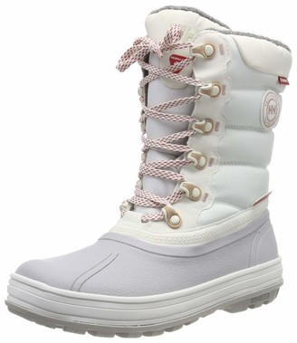 Helly Hansen Women's Tundra Cold Weather Waterproof Winter Boot with Grip Off White/Light Grey/Faded Rose 6.5