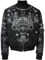 Givenchy tattoo print bomber jacket - men - Cotton/Polyamide/Polyester - 44