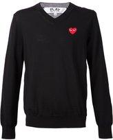 Comme des Garcons heart intarsia jumper - men - Wool - S