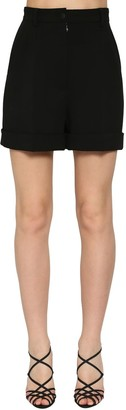 Dolce & Gabbana High Waist Wool Stretch Shorts