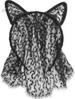 Maison Michel Cat Ears & Veil Lace headband