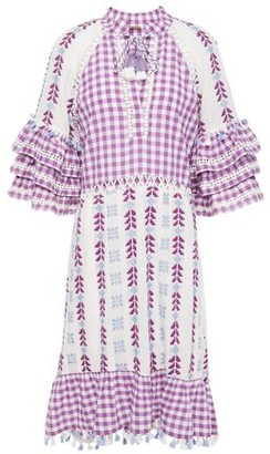 Dodo Bar Or Ruffled Broderie Anglaise-trimmed Embroidered Cotton-gauze Dress