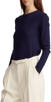 Ralph Lauren Collection Crewneck Long-Sleeve Cashmere Jersey Sweater