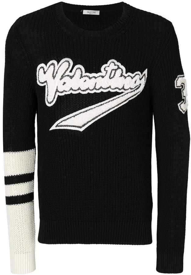 Valentino logo patch jumper