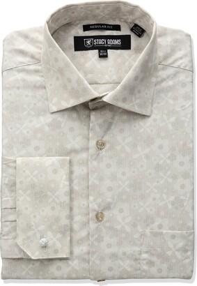 Stacy Adams Men's Big-Tall Floral Dress Shirt