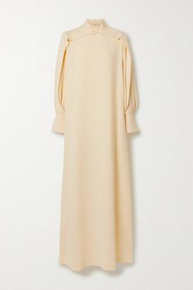 The Row Nandi Draped Silk Gown - Ecru