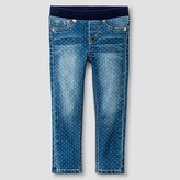 Toddler Girls' Skinny Jeans Medium Wash with Dot - Cat & Jack