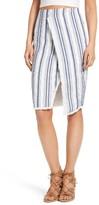 Moon River Women's Fringe Wrap Style Skirt