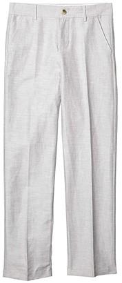 Janie and Jack Linen Dress Pants (Toddler/Little Kids/Big Kids) (Grey) Boy's Casual Pants
