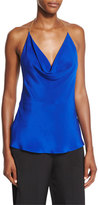Cushnie et Ochs Draped Halter-Chain Sleeveless Blouse
