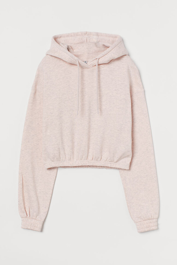 Thumbnail for your product : H&M Crop Hoodie - Pink