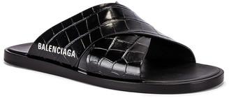 Balenciaga Cosy Mule F005 in Black & White | FWRD