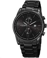 Akribos XXIV Men's AK812BK Quartz Movement Watch with Dark Gray Dial and Black Stainless Steel Bracelet