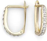 JCPenney FINE JEWELRY Diamond Fascination 14K Yellow Gold Oval Hoop Earrings