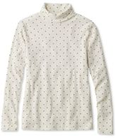 L.L. Bean Double L Rib-Knit Turtleneck, Print