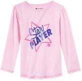 Champion Star Player Graphic-Print Long-Sleeve T-Shirt, Toddler & Little Girls (2T-6X)