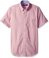 Nautica Men's Classic Fit Wrinkle Resistant Short Sleeve Textured Shirt