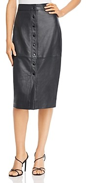 Equipment Violette Leather Pencil Skirt