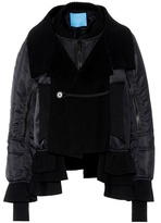 Undercover Wool-trimmed layered jacket