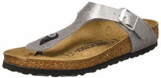 Birkenstock Tongs Gizeh Birko-flor Glitter Silver Womens Sandal
