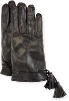 Imoni Leather Tassel Gloves