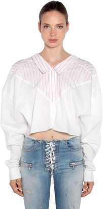 Unravel Oversized Striped Cotton Shirt