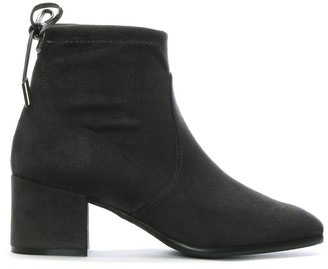 Daniel Tollar Grey Stretch Suede Ankle Boots