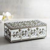 Pier 1 Imports Mirrored Jeweled Decorative Box