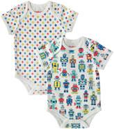 Cath Kidston Robots Baby 2 Pack Bodysuits