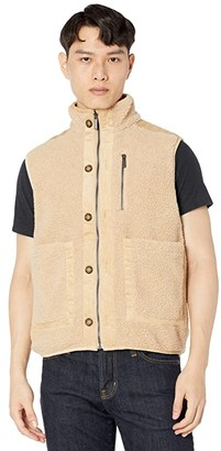 NATIVE YOUTH Ethan Sherpa Gilet with Cord Trims (Beige) Men's Clothing