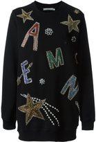 Amen beaded embroidered oversize sweatshirt