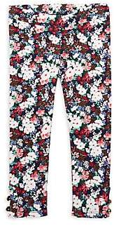 Janie and Jack Little Girl's & Girl's Floral Leggings