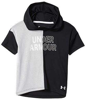 Under Armour Kids Tech Graphic Short Sleeve Hoodie (Big Kids) (Black/White) Girl's T Shirt
