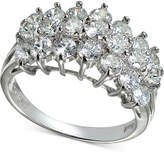Giani Bernini Cubic Zirconia Cluster Ring in Sterling Silver, Created for Macy's