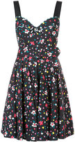 Marc Jacobs painted flower corset top dress - women - Cotton/Spandex/Elastane - 2