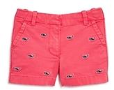 Vineyard Vines Girls' Whale Embroidered Shorts - Little Kid