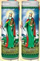 Gifts By Lulee/Candles Set of 2 St Martha Prayer Candles 2 Veladoras De Santa Marta