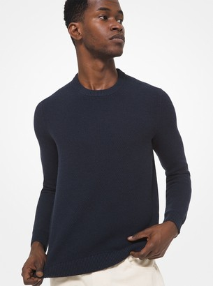 Michael Kors Textured Cotton Blend Sweater