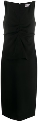 Givenchy Ruched Front V-Neck Dress