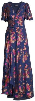 Shoshanna Minka Jacquard Long Flare Dress